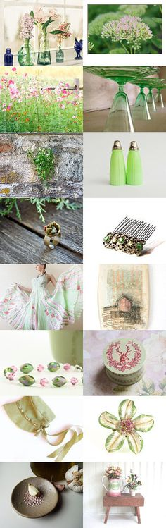 Springtime In a Bottle by Rose Baker on Etsy--Pinned with TreasuryPin.com