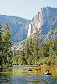 Rafting the Merced River in Yosemite National Park
