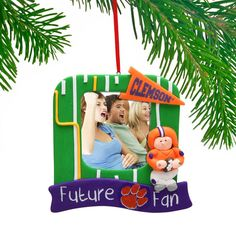 Clemson Tigers Claydough Field Photo Frame Ornament - $9.99