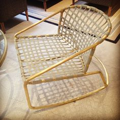 Chic Walter Lamb Outdoor Chair by Brown-Jordan — Casual Market