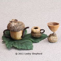 Make an Acorn Tea Set