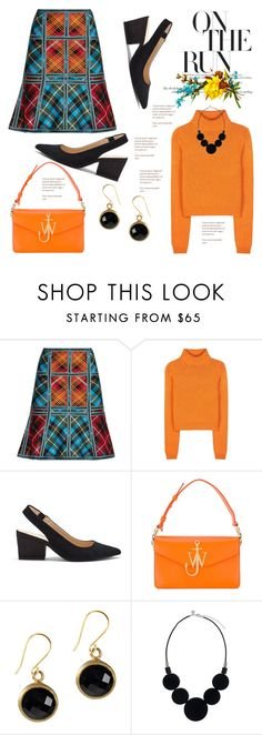 """""""Busy Day"""" by hastypudding ❤ liked on Polyvore featuring Hervé Léger, Acne Studios, Sole Society, J.W. Anderson, trending, plaid, tartan, fashionset and AmiciMei"""