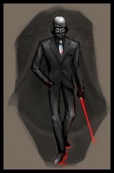 OZComics Weekly Challenge: Darth Vader. Inspired by a meme and power suits~ Relatively quick work in Photoshop. Still somewhat rough, but I've no more time~ Whee.... Psyk