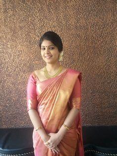 Engagement Saree, Engagement Dresses, Kerala Bride, South Indian Bride, Indian Silk Sarees, Indian Beauty Saree, Christian Wedding Sarees, Christian Weddings, Christian Bride