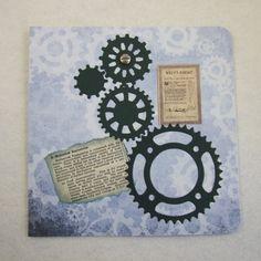 Birthday Card, Handmade Vintage Style Greeting Card - Male - Engineer £1.75