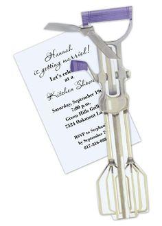 Vintage Hand Mixer Invitation for Retro Kitchen Shower