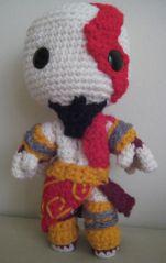 Kratos Sackboy (from God of War) Pattern by Nikki Olida and GoldenJellybean