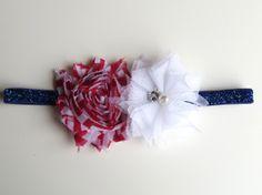 2-6 Months Red, White, & Blue Headband