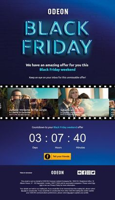 Black Friday Countdown Timer Email