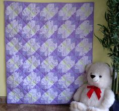 Lavender Wing handmade baby quilt - This baby quilt is SEW perfect as a baby shower gift idea.