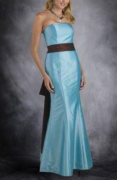 Strapless Bias-cut Trumpet/ Mermaid Floor-length Bridesmaid Dress - Bridesmaid Dresses - OuterInner.com