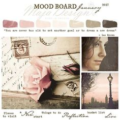 I hope you haven't missed our new Mood Board challenge. Majadesign