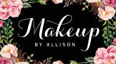Makeup Artist Modern Script Business Card