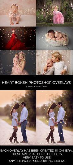 All the Hearts Bokeh Photoshop Overlays - Kimla Designs Photography Photoshop Design, Photoshop Tutorial, Photoshop Youtube, Photoshop Fail, Effects Photoshop, Photoshop Overlays, Advanced Photoshop, Photoshop Brushes, Photoshop Website