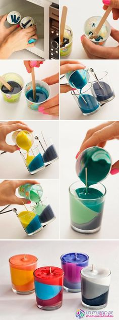 How to make candles with crayons - Lombn Sites Crafts For Less, Diy And Crafts, Idee Diy, Diy Gifts For Boyfriend, Upcycled Crafts, Diy For Girls, Candle Making, Craft Gifts, Candles