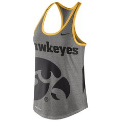 College Iowa Hawkeyes Nike Women's Dri-Blend Gear Up Performance Tank Top - Gray