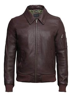 Mens Napa Real Leather Jacket Winter Fashion Coat A842