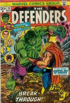 Defenders #10. The Hulk v Thor. Cover by John Romita. #Defenders #Hulk #Thor #JohnRomitaSr