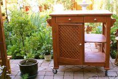 Mobile Garten-Koch-Insel – garden-kitchen-island Vintage-Style