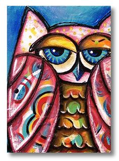 ACEO Print  Owl by divinedesignstudios on Etsy
