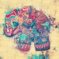 Beautiful colour.... There seems to be an elephant theme developing here