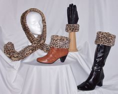 These Cheetah cuffs and accessories (fake fur, of course) are one of our matching CuffLinks sets.