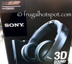 Sony Wireless, Digital Surround Stereo Headphones. #Costco #FrugalHotspot