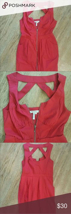 Red BCBG generation dress Never worn- perfect condition! Zips up the front! BCBGeneration Dresses Mini