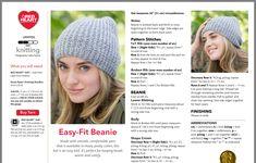 Beanie Knitting Patterns Free, Barbie Knitting Patterns, Crochet Beanie Pattern, Baby Hats Knitting, Easy Knitting Patterns, Knitting Socks, Knitted Hats, Knit Crochet, Crochet Hats