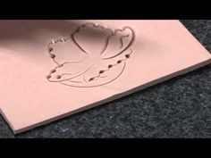 Floral Style tooling with Keith Valley part 2 Beveling the flower - YouTube
