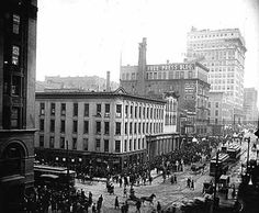 Wisconsin and Water Street Intersection Mid-late 1800's