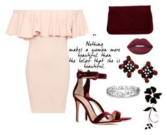 """""""Untitled #7"""" by munira-salihovic ❤ liked on Polyvore featuring WearAll, Gianvito Rossi, Pieces, Effy Jewelry and Lime Crime"""