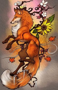 Red fox art