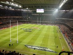 Millennium Stadium Cardiff - Wales v All Blacks Millennium Stadium Cardiff, Dragon Wagon, Cardiff Wales, All Blacks, Cymru, Welsh, Rugby, Tours, Welsh Language