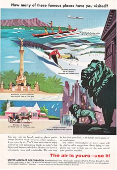 Gorgeous United Aircraft Corporation ad from a 1957 National Geographic!