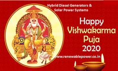 Today is the day to pray to the creator of tools and machines and to seek his blessings for a progressive and prosperous life. #Renewablepowersystemsdelhi wishes on #VishwakarmaPuja2020