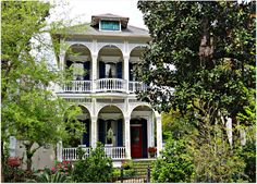 St. Charles Avenue Home,double gallery