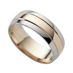 9ct two-colour gold wedding ring - Ernest Jones. Золотые Обручальные  КольцаОбручальные ... 88dbfb563c4