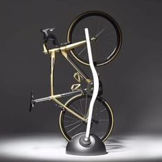 [New] The 10 All-Time Best Home Decor (Right Now) - Ideas by Jennie Cross - The most spectacular bike rack ever that turn into a stylish floor lamp. Vertik by Vadolibero ready to make a cyclist very happy for Christmas. Bicycle Cafe, Old Bicycle, Bicycle Shop, Cool Bicycles, Cool Bikes, Intense Bikes, Pimp Your Bike, Indoor Bike Rack, Bike Hanger