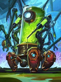 The Boomsday Project full art - Hearthstone Wiki Game Character Design, Character Concept, Character Art, Character Ideas, Dark Souls, Anton, Arte Robot, Warcraft Art, Robot Concept Art