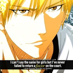 Kuroko no Basket. It took me twice to hear this quote to have the meaning sink in. Shame on you, Kise!