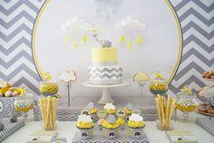 Quer usar uma cor fora do padrão azul e rosa? Que tal fazer um chá de bebê amarelo? Essa cor serve tanto para chá de bebê menino ou menina, confira as dicas