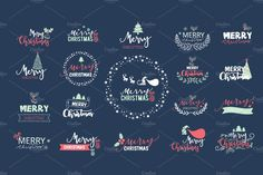 Christmas ICON and WORD  by beerjunk on @creativemarket