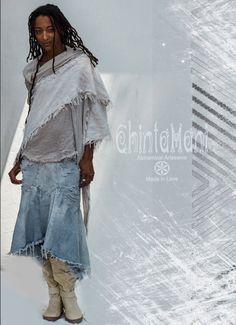 Raw bohemian linen cotton scarf by ChintamaniAlchemi on Etsy