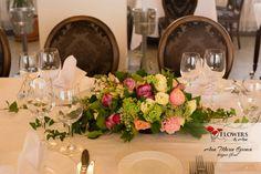 Aranjament masa botez Table Settings, Events, Table Decorations, Floral, Flowers, Home Decor, Decoration Home, Room Decor, Place Settings