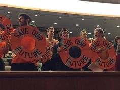 Anti-climate change activists disrupt a budget hearing on the environment at the state Capitol Monday