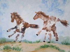 Paarden van handafdrukken