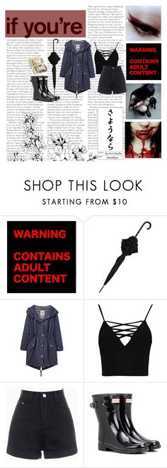 """""""Creepypasta Oc: Midnight Mist"""" by briannar4582 ❤ liked on Polyvore featuring HUF, Mimco, Joules, Boohoo and Hunter"""