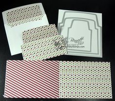 www.PattyStamps.com - envelope liners and paper stacks oh my! Quick and easy way to dress up your Christmas cards!