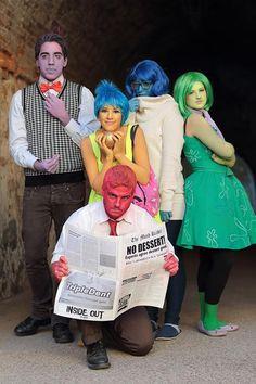 Inside Out - Alles steht Kopf Kostüm selber machen   Kostüm Idee für Gruppen zu Karneval, Halloween & Fasching